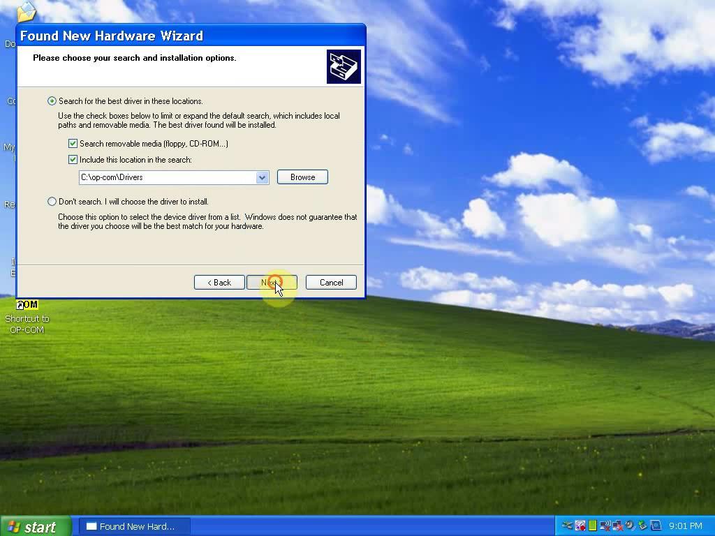 install OP COM 1.59-1