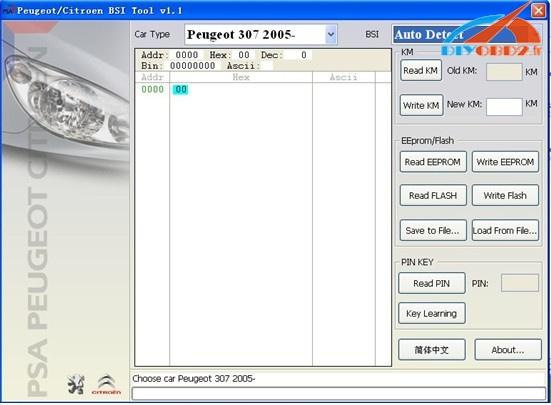 PSA BSI tool software