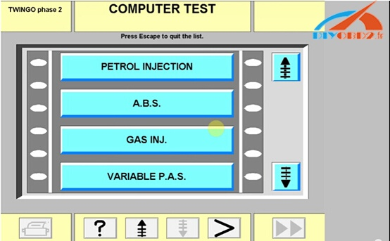 Select corresponding computer unit and run self-test