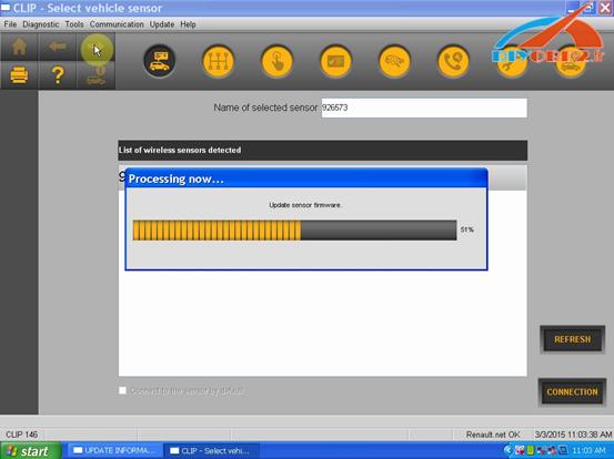 software will start updating sensor firmware 6