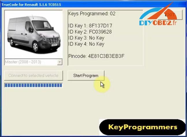 How to program Renault Master key easily by FNR key Prog