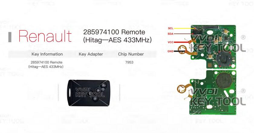 VVDI Key Tool Unlock Renault RemotesSmart Key   OBD2Diy