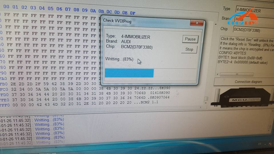 VVDI-PROG-read-write-nec-upd-70f3380-solved