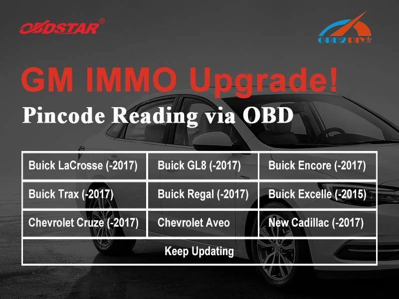 OBDSTAR X300 DP GM IMMO Nouvelle mise à jour
