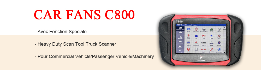 CAR FANS C800 Diagnostic Heavy Duty Scan Tool