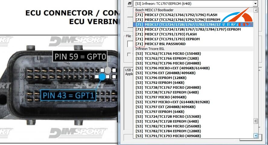 select-the-software-menu-to-read-and-write-ecu