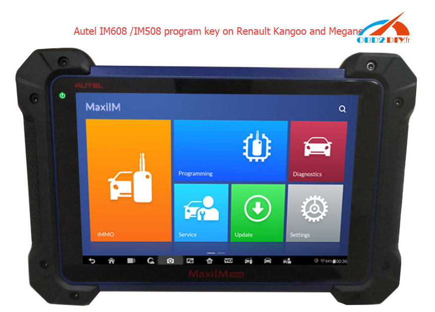 Autel-IM608-IM508-program-key-on-Renault-Kangoo-and-Megane-
