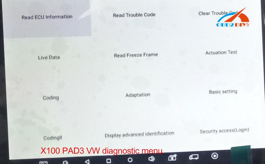 xtool-x100-pad3-vw-diagnosis